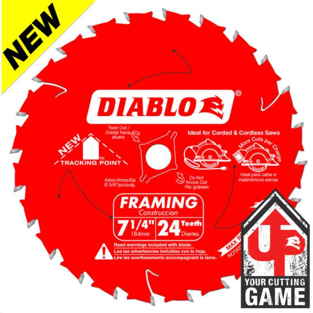 Where to find Saw Blade 7-1 4 Diablo 24t  Framing in La Grande