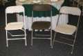 Where to rent Chair PVC Ivory Folding in La Grande OR